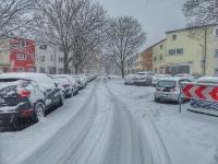 Winteridylle in der May-Siedlung - Damaschkeanger Richtung Am Ebelfeld