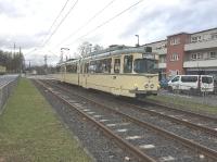 Alte Straßenbahn 2017 zu Besuch in Praunheim