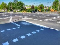 Neue Radwegemarkierungen werden angebracht - Ludwig-Landmann-Straße Heerstraße